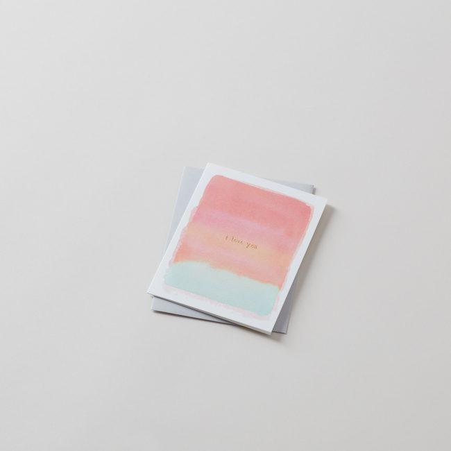I Love You Blank Greeting Card with Gold Foil Detail