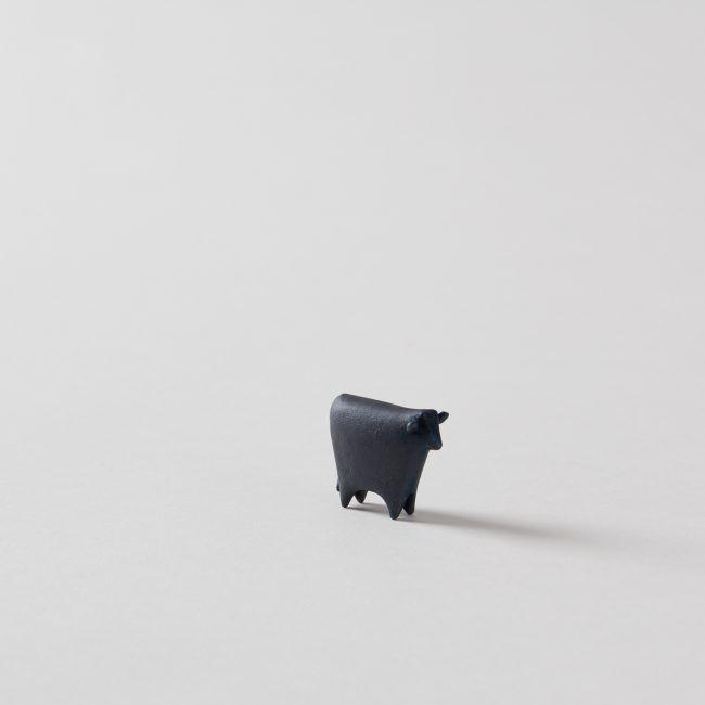 Miniature Bronze Cow Statuary