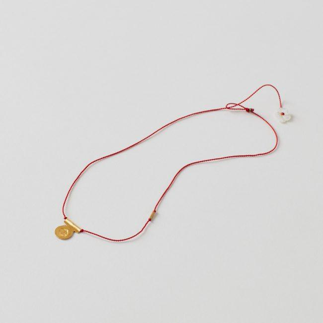 River Song Circle Talisman Necklace on Red Nylon