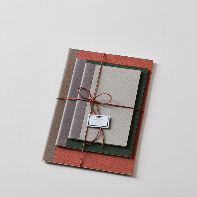 Set of 3 Notebooks with Waxed String + Contrast Spine