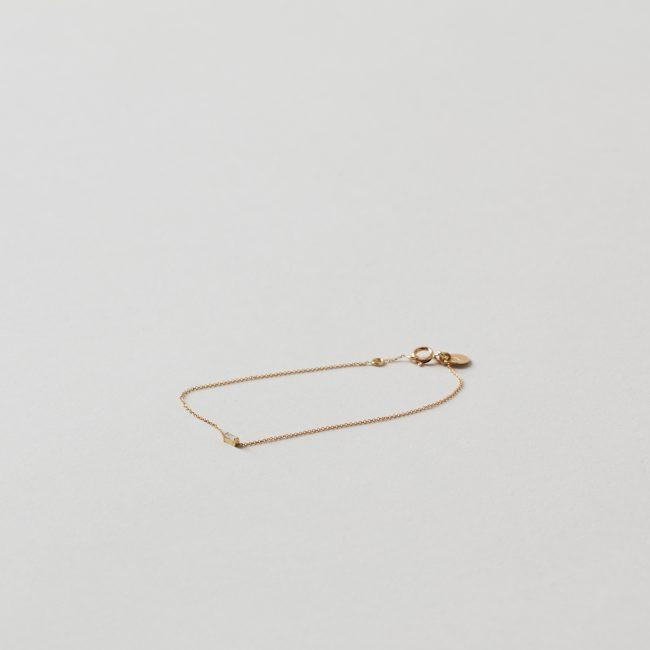 Sweet Pea Diamond Baguette Fine Chain Bracelet
