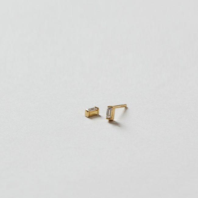 Sweet Pea Diamond Baguette Stud Earrings
