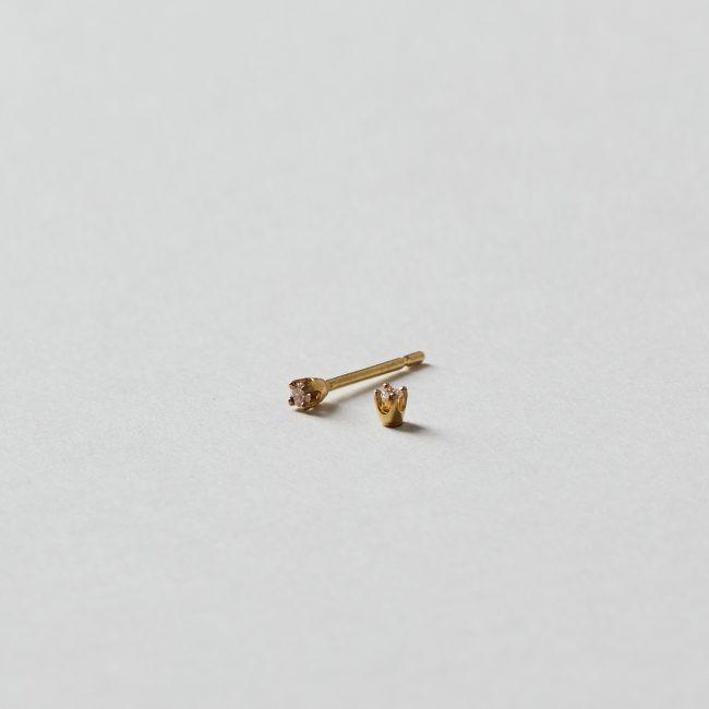 Sweet Pea Small Diamond Stud Earrings