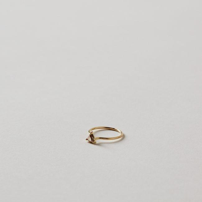 Tura Sugden Champagne Rose Cut Solitaire Ring