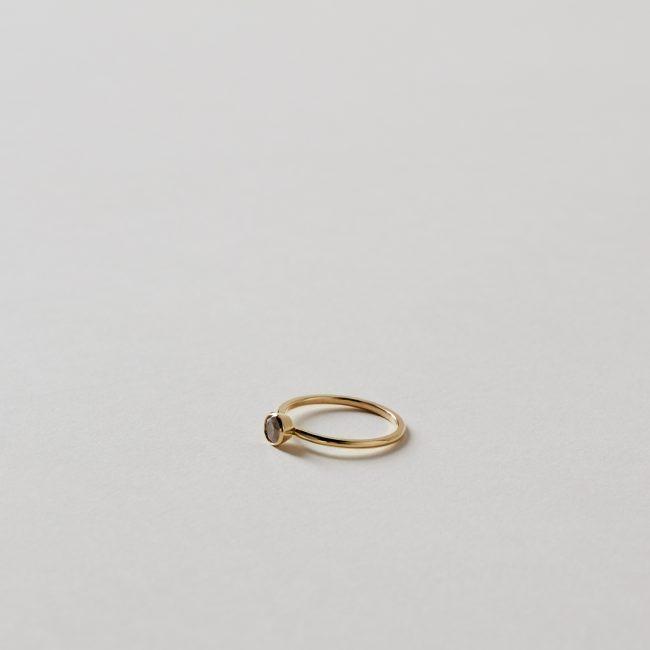Tura Sugden Foggy Diamond Round Bezel Ring