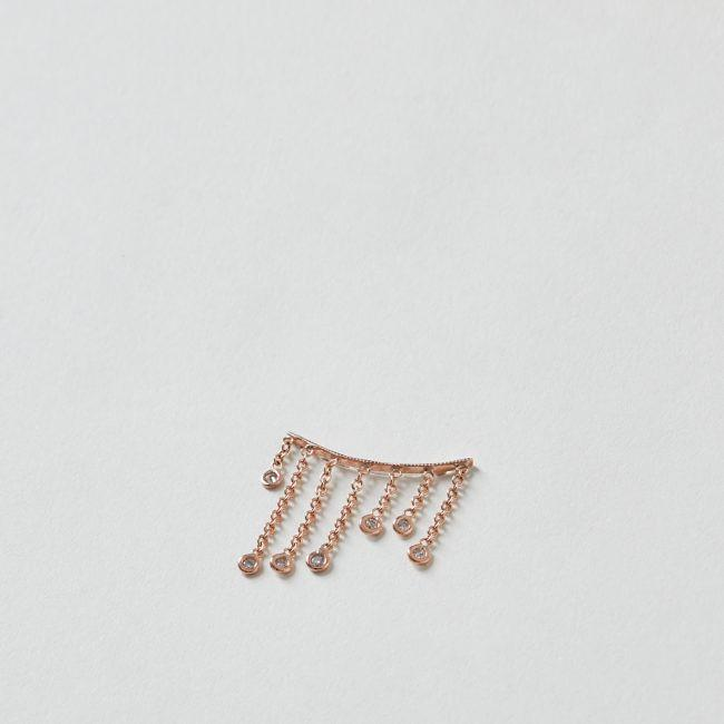 7 Diamond Shower Ear Cuff 14k Rose Gold