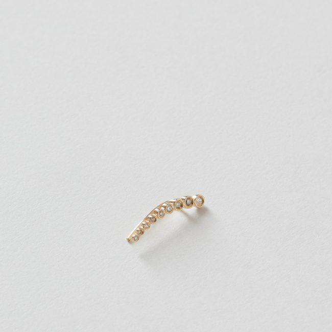 9 Diamond Graduated Milgrain Ear Cuff 14k Gold