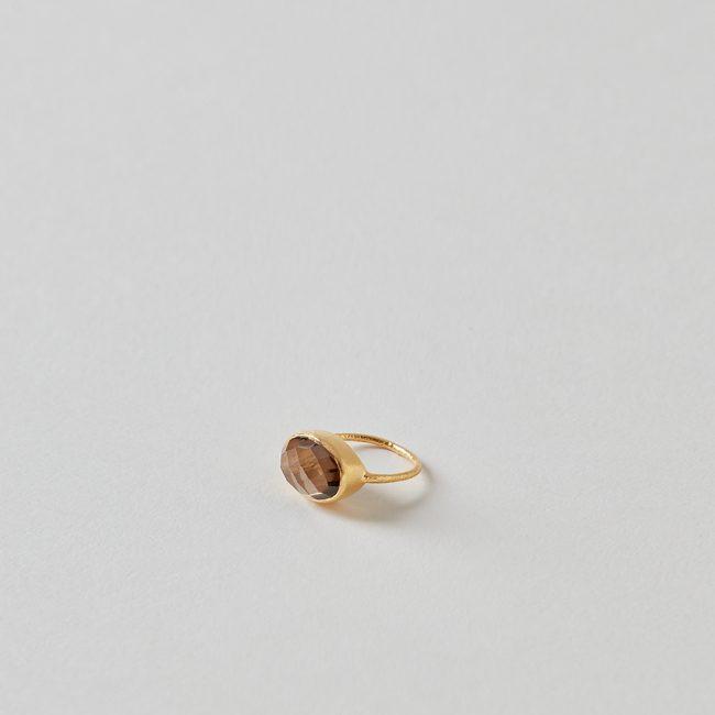 Bluma Project Abhi Ring in Gold/Smoke