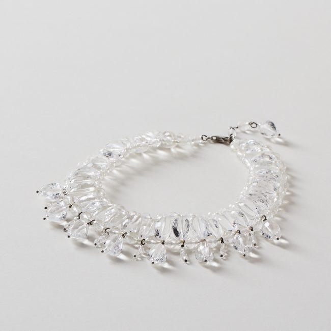Clear Crystal Quartz Nephertiti Necklace