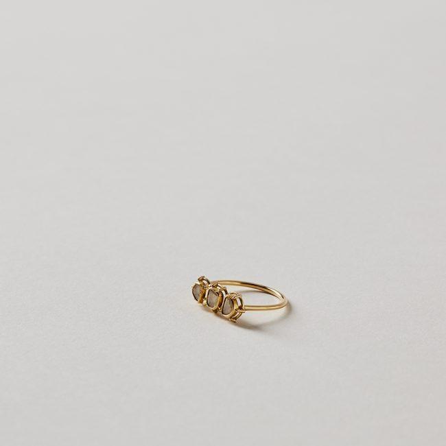 Tura Sugden Three Diamond Slice Ring