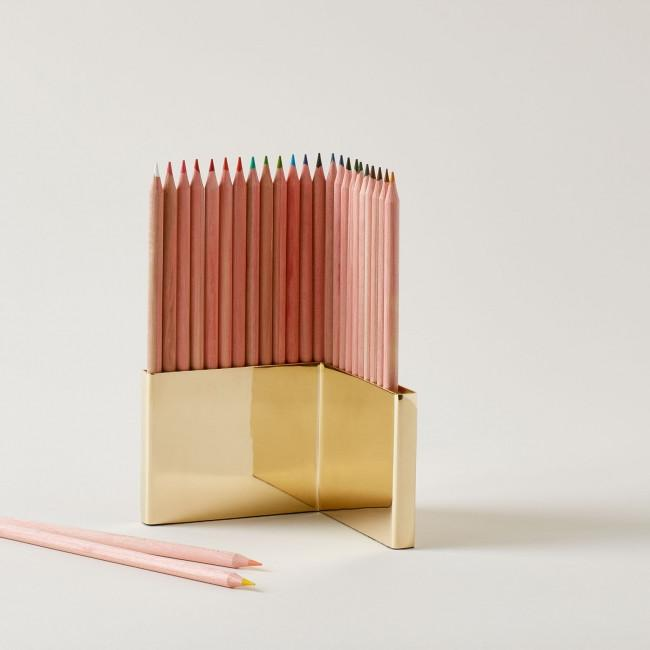 Colored Pencils + Brass Holder