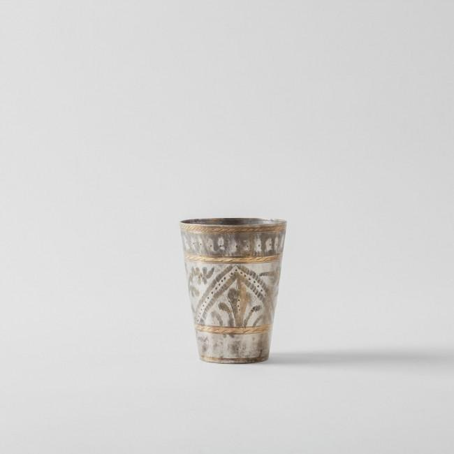 Nkuku Antique Brass Indian Lassi Cup