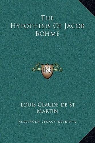 Hypothesis of Jacob Bohme