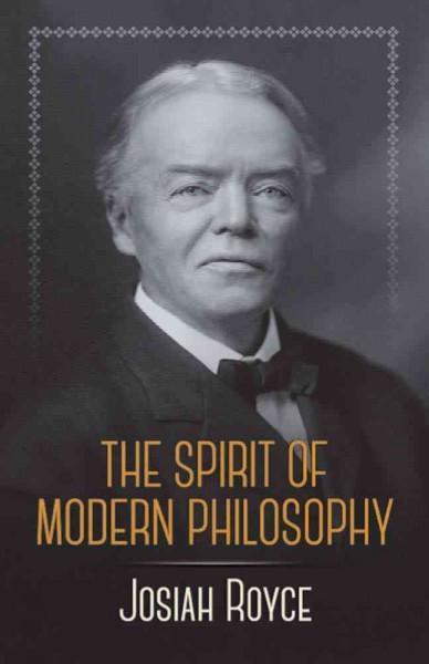 Spirit of Modern Philosophy
