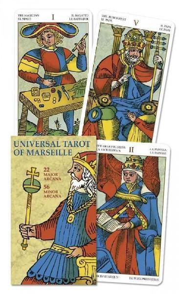 Universal Tarot Of Marseille / Tarot Universal Marseille : 22 Major Arcana, 56 Minor Arcana / 22 Arcanos Mayores, 56 Arcanos Menores