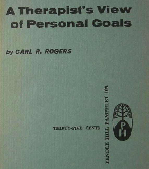 Therapists View of Personal Goals