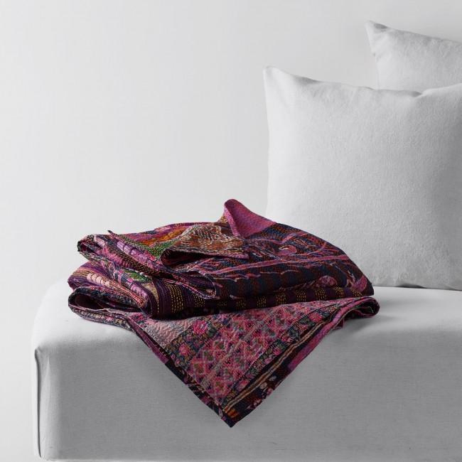 Pixel Motif Silk Bed Cover