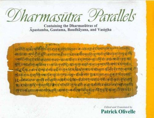 Dharmasutra Parallels