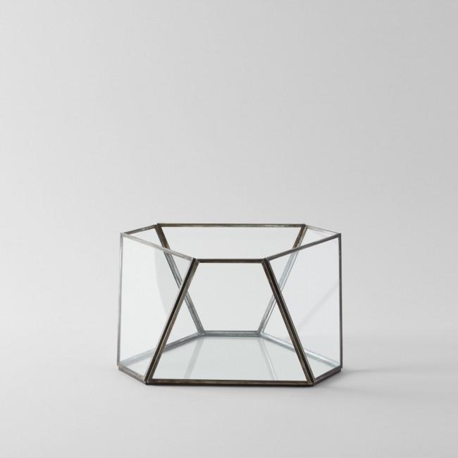 Angled Glass Dry Terrarium