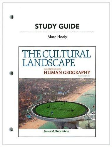 Hss Geography - Study Guide Cultural Landscape