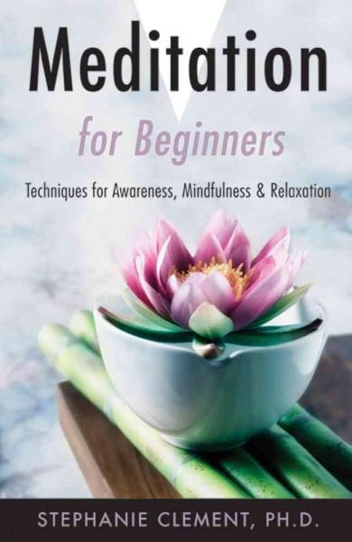 Meditation for Beginners : Techniques for Awareness, Mindfulness & Relaxation