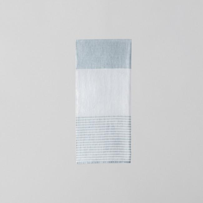 Tri Color Chambray Towel Gray