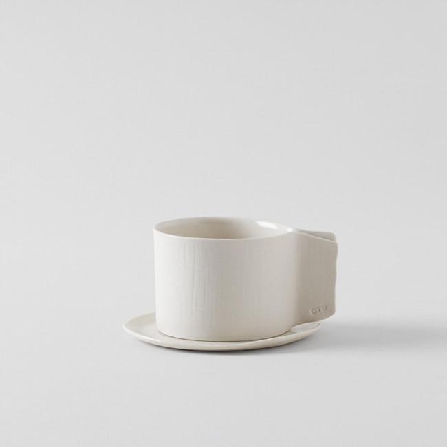 OVO Ceramics Handmade Porcelain Teacup and Saucer