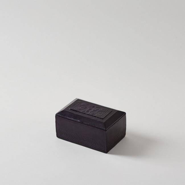 a4a32722d9 Handmade Leather Eggplant Rectangular Box | Bodhi Tree