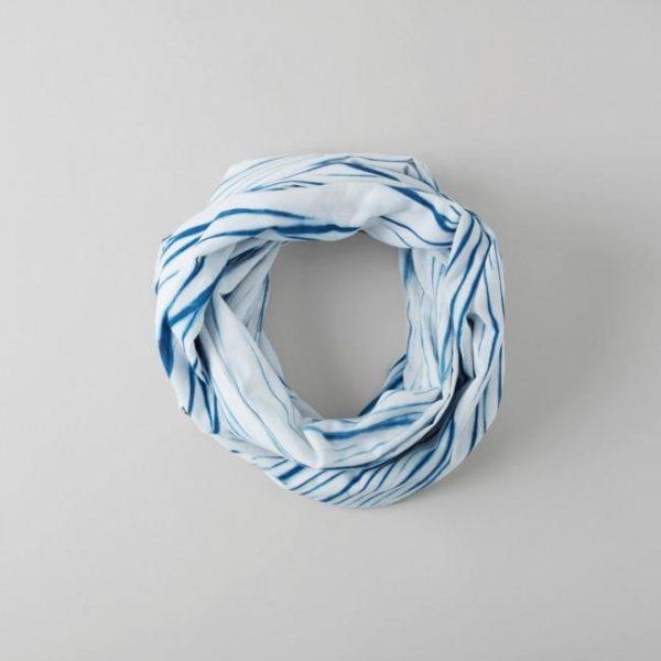 Hand Dyed Indigo Single Layer Cotton Scarf