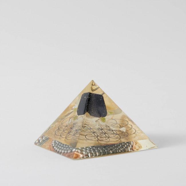 Black Tourmaline Peridot Orgone Pyramid