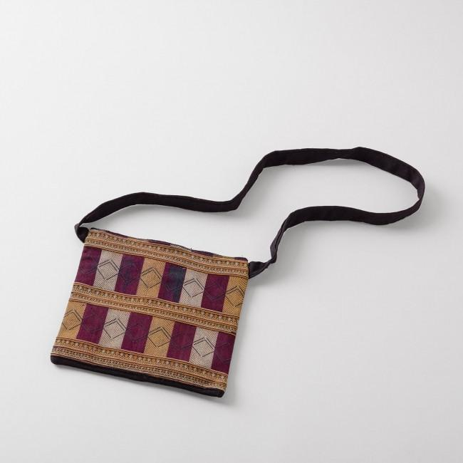 Red Dao Traditional Vietnamese Small Embroidered Bag