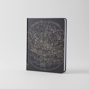 Astronomy Star Chart Hardcover Journal
