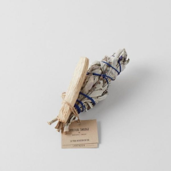 Spiritual Smudge White Sage with Lavender and Palo Santo