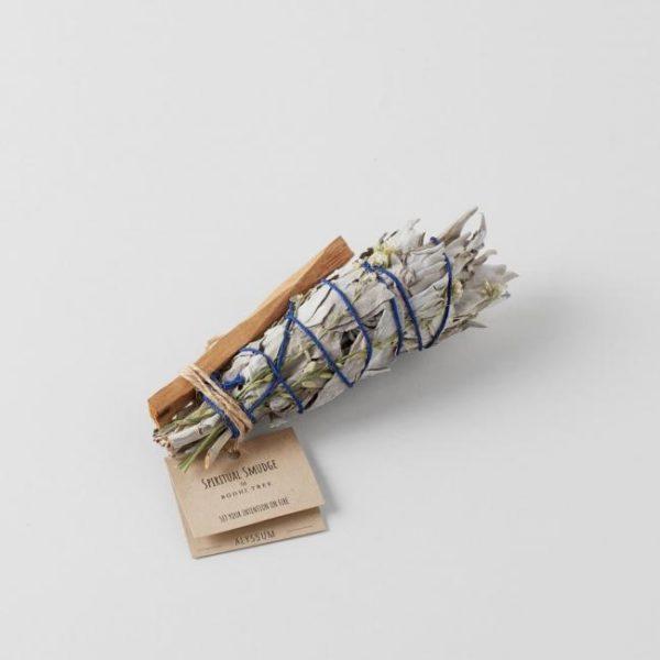 Spiritual Smudge White Sage with Alyssum and Palo Santo