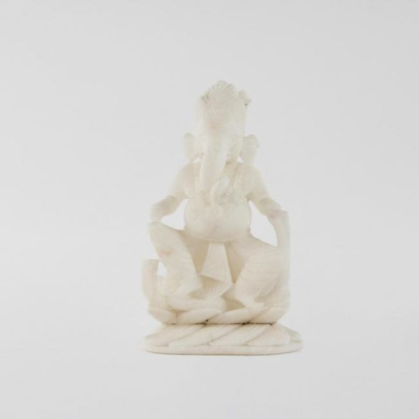 Extra Small 19th Century Antique Marble Ganesha Statue