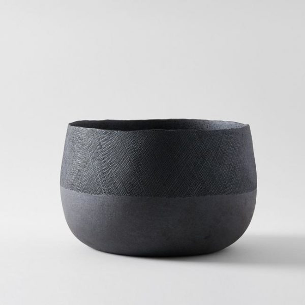 Patricia Vieljeux Grey Stoneware Salad Bowl