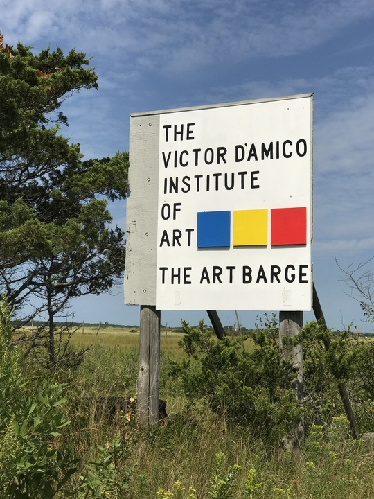 sign of The Victor D'amico Institute of Art