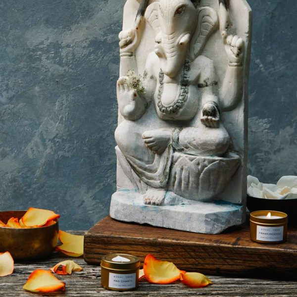 Bodhi Tree Nag Champa Scented Travel Candle
