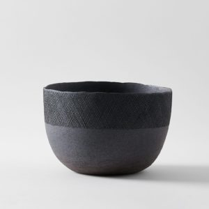 Patricia Vieljeux Tall Grey Stoneware Salad Bowl