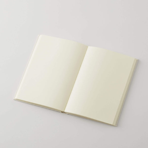 an opened journal with blank pages