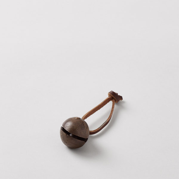 brass bell with leather hanger