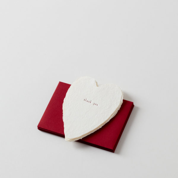 thank you: Handmade Paper Note with Red Envelope