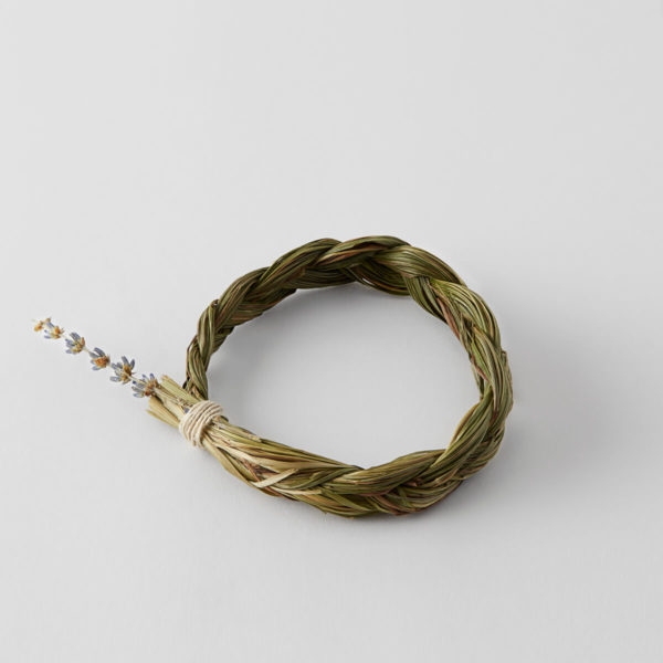 braid of Sweetgrass tied in a circle