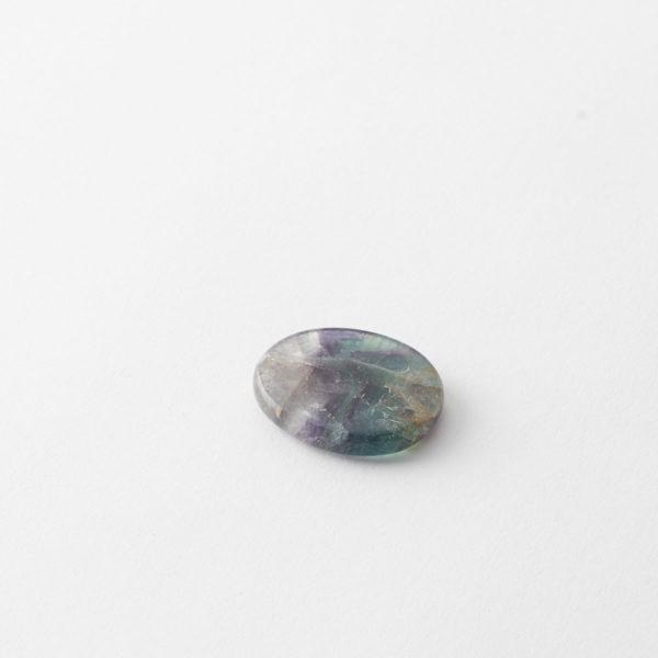 Rainbow Fluorite Flat Stone Palm Sized Crystal